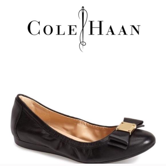 457f29b0fbba Cole Haan Tali Bow Ballet Flat - Black 9B